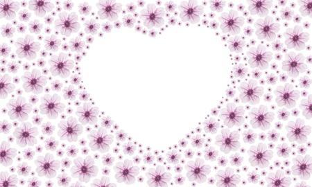 pink vintage heart flower