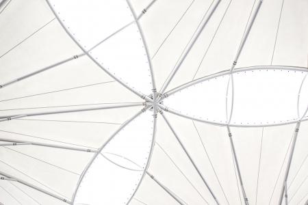 Vinyl roof structure Stock Photo