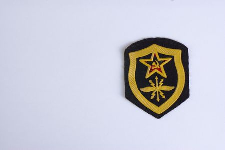 soviet army chevron with the red star photo