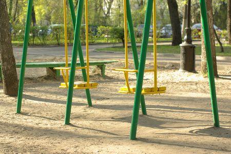 swing set on the children playground