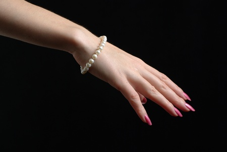 hand with a bracelet Stock Photo
