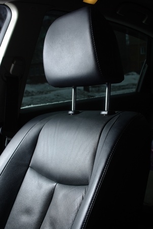 Black seat in a car photo
