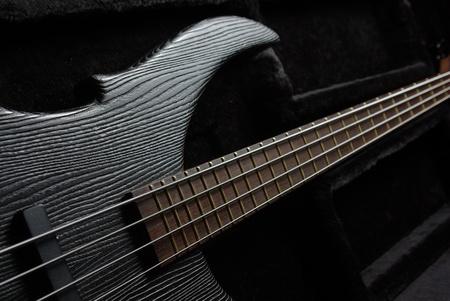Guitar on black photo