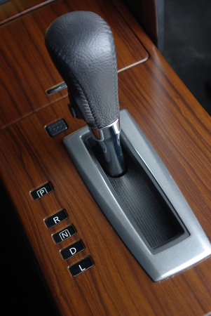 shifting: Car gearstick Stock Photo