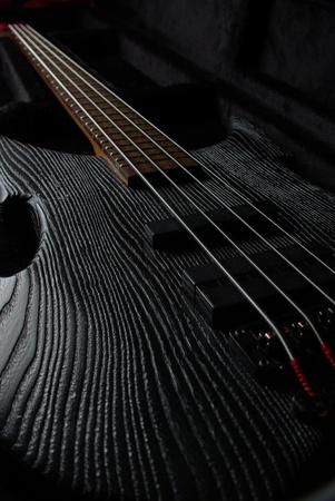 Bass guitar on black