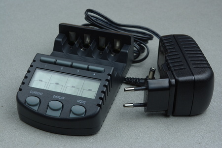Battery charger with ac adapter Stock Photo