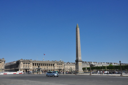 obelisk: Place de la Concorde Egypt Obelisk Editorial