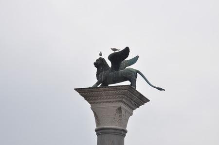 st mark's square: Venice St Marks square statue