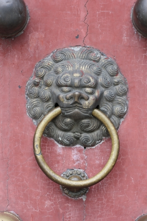 Chinese ancient architecture door photo