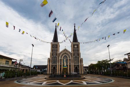 immaculate: Di�cesis Cat�lica Romana o la Catedral de la Inmaculada Concepci�n, Chanthaburi, Tailandia.