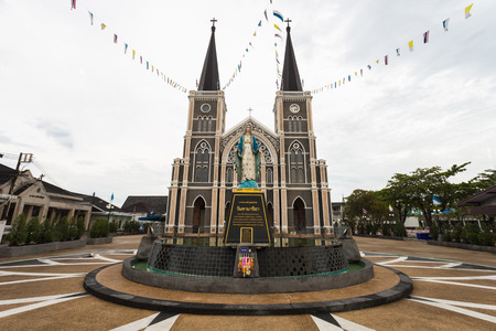 holy mary: Roman Catholic Diocese or Cathedral of the Immaculate Conception, Chanthaburi, Thailand.