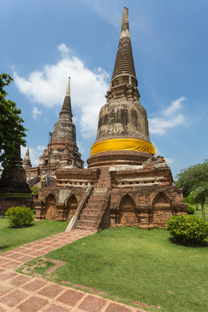 ayuthaya: Public ancient temple in Ayuthaya, Thailand
