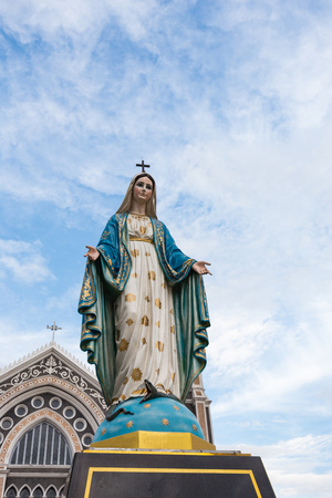 The Blessed Virgin Mary in front of the Roman Catholic Diocese, Thailand.