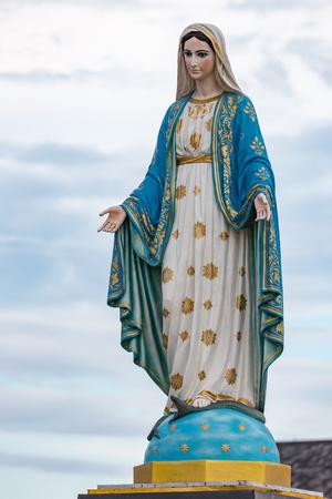 De Heilige Maagd Maria voor het Rooms-Katholieke Bisdom, openbare plaats in Chanthaburi, Thailand.