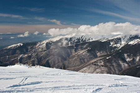 High mountains  in the winter Stock Photo - 7790048