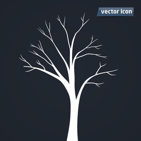 Baum Silhouette Vektor Icon