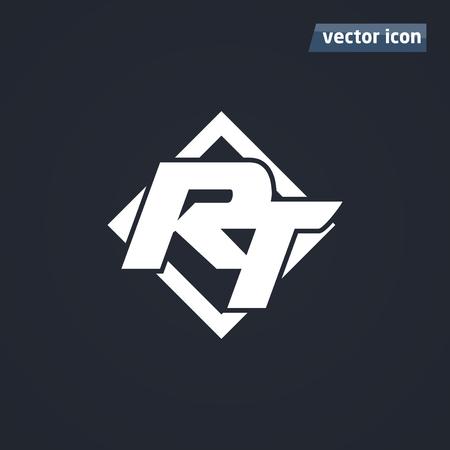 RT icon in square vector illustration. Vektoros illusztráció