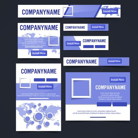 Ad web banner vector illustration