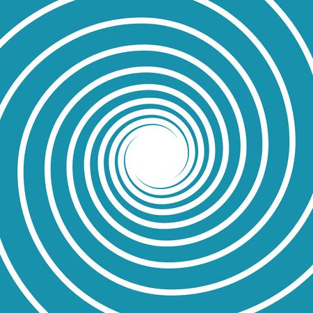 White on blue spiral swirl hypnotic vector illustration. Illustration