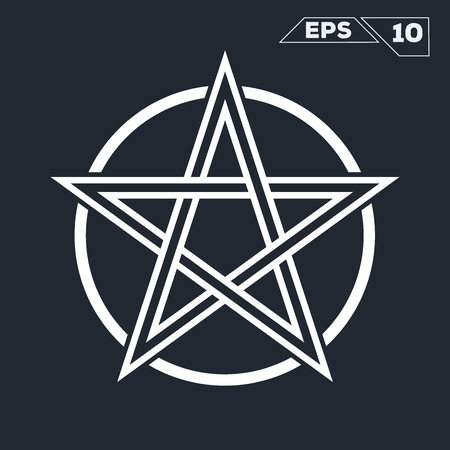 Line Art Pictograph Star Symbol With Circle Royalty Free Cliparts