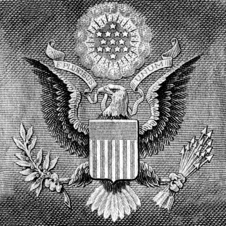unum: American Eagle on one USA dollar bill