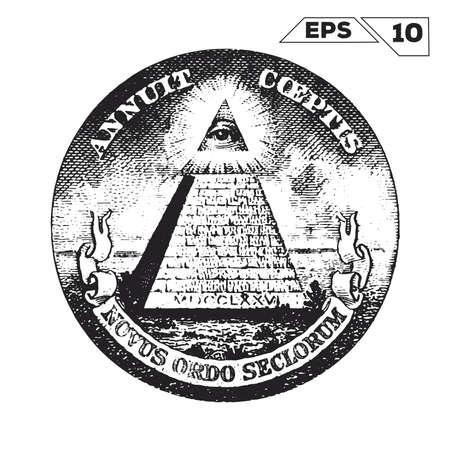 Eye of Providence sur un billet de dollars américains
