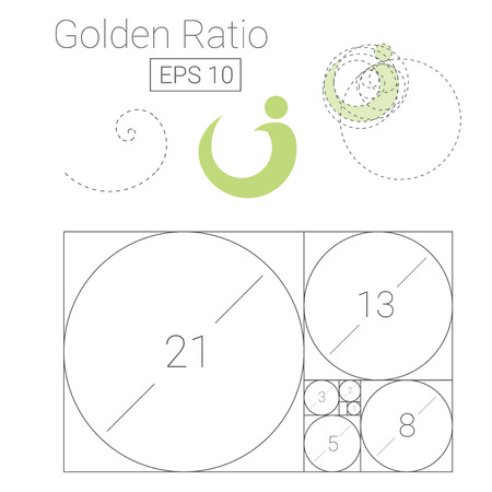 Golden ratio template icon Reklamní fotografie - 86621733
