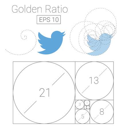 Golden ratio template icon