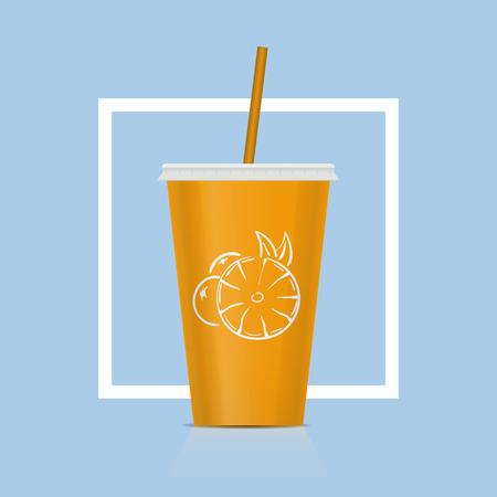 Plastic fast food cup for beverages vector illustration Stock Illustratie