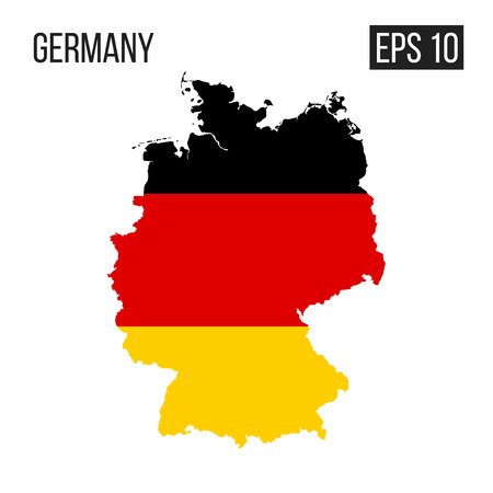 Germany map border with flag vector EPS10