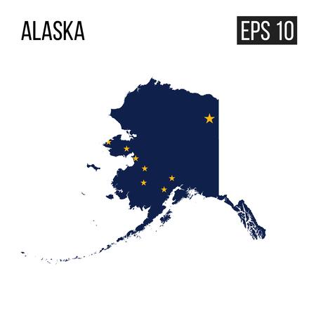 Alaska map border with flag vector EPS10