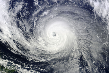 Typhoon over planet Earth. Banque d'images