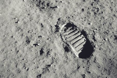 Step on the moon. Archivio Fotografico - 126981947