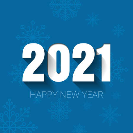 Celebration 2021 new year, illustration for christmas template