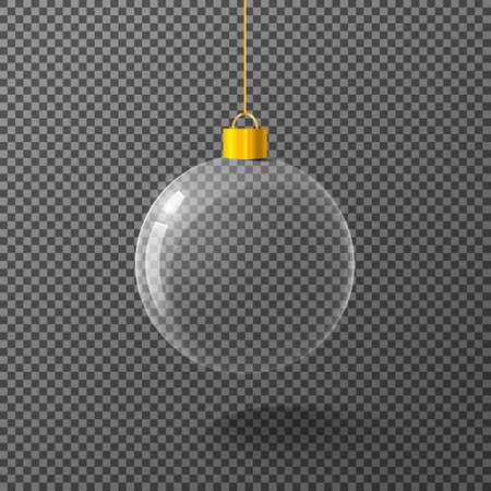Christmas ball on isolated background. Vector illustration.