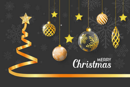 Set of christmas elements. Merry christmas background