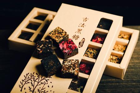 Five flavored brown sugar cubes