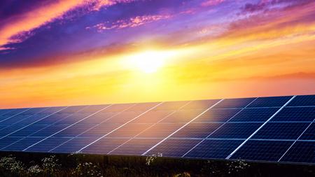 Panels of solar batteries. Panels of solar batteries. Modern panels of solar batteries. Solar energy. Environmentally safe, renewable energy. Фото со стока