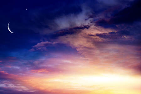 background sky at sunset and dawn. red cloud sky 스톡 콘텐츠
