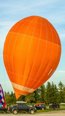 Balloon launch. Flight into the sky