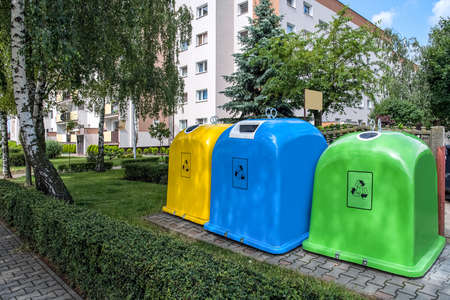 street garbage collection containers, Garbage containers, municipal services of the city