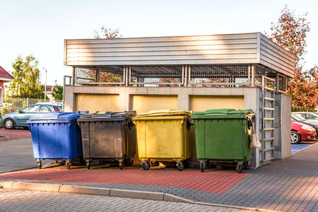 street garbage collection containers , Garbage containers , municipal services of the city