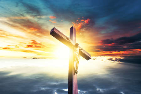 Crucifixion, Resurrection of Easter Sunday concept