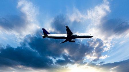 plane took off into the sky, altitude. Stock fotó