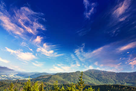 sky and mountains, nature landscape, clean air