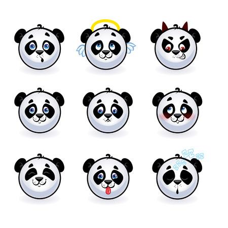 smilies pandas Vector