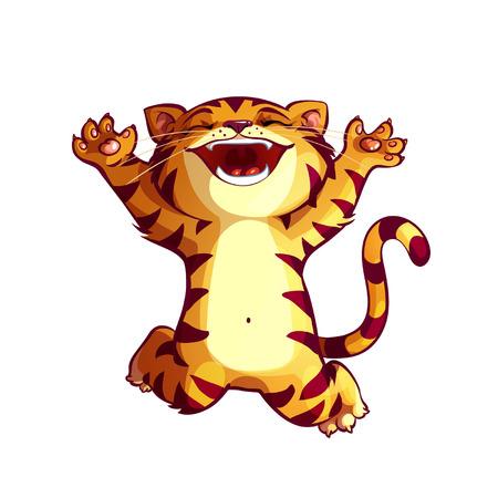 happy cat: HAPPY CAT Illustration