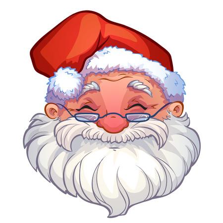 man beard: smiling face of santa