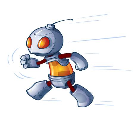 running a small robot Stock Vector - 23461683