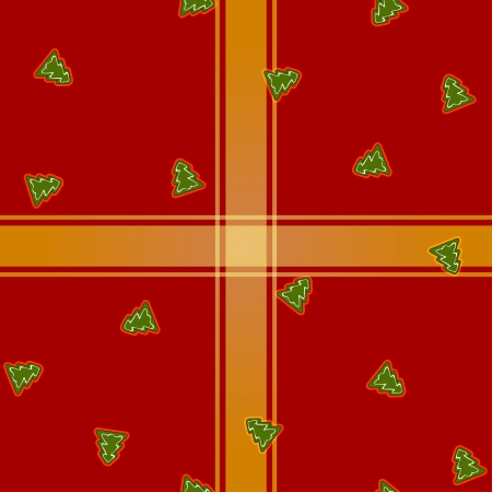 Christmas vector pattern with Christmas trees Vector